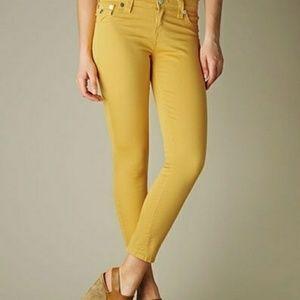 True Religion Yellow Skinny Crop Jeans Size 25 EUC